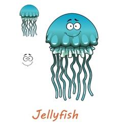 Cartoon underwater jellyfish vector