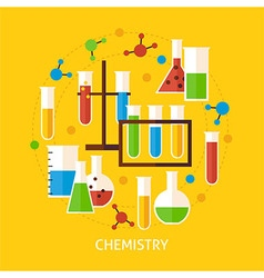 Chemistry Science Flat Concept vector