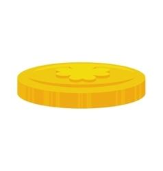 Coin clover irish vector