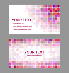 Colorful square mosaic business card template vector image