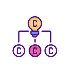 Copyright in derivative works rgb color icon vector