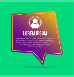 creative testimonials template with different vector image