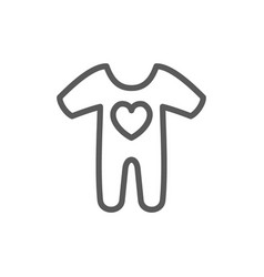 cute bacreepers children wear line icon vector image