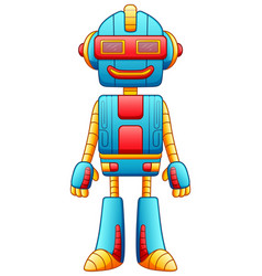cute cartoon robot character isolated on white bac vector image