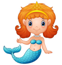 cute little mermaid vector image