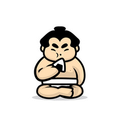cute sumo vector image