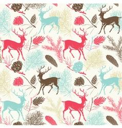 Deer Forest Pattern vector image