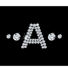 Diamond alphabetic letter A vector