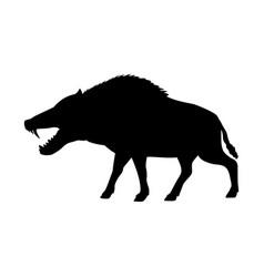 entelodon silhouette extinct mammal animal vector image