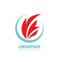 fire flame - logo concept vector image