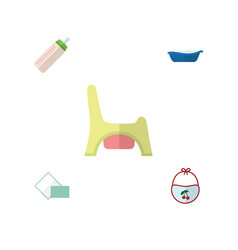 Flat child set of bathtub feeder napkin and vector