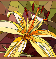 Flower yellow lily vector