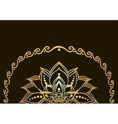 Golden lotus flower vector