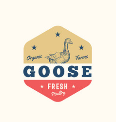 goose organic farms fresh poultry abstract vector image