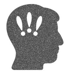 Head problems grainy texture icon vector