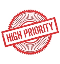 High priority stamp vector image