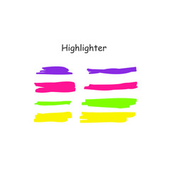 highlight brush stroke set color marker vector image