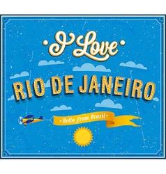 I love Rio De Janeiro vector image