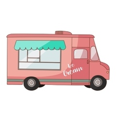 Ice cream van vector