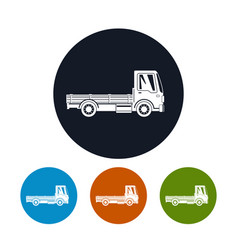 Icons mini lorry without load vector