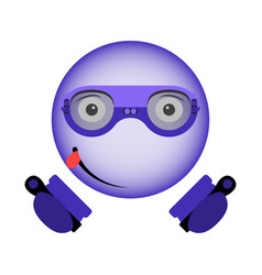 Image of an enthusiastic smiley in virtual vector