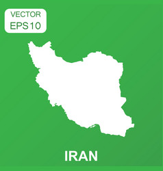 iran map icon business concept iran pictogram on vector image