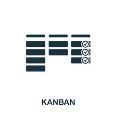 kanban icon symbol creative sign from agile icons vector image