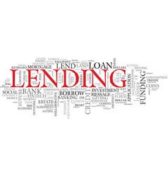 Lend word cloud concept vector