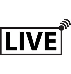 live streaming icons symbols and buttons live s vector image