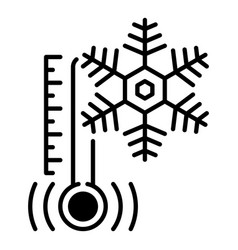 Low minus temperature icon outline style vector