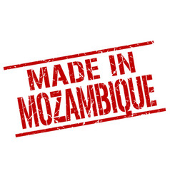 Made in mozambique stamp vector