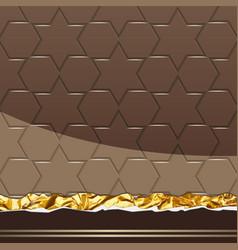 milk chocolate pattern vector image