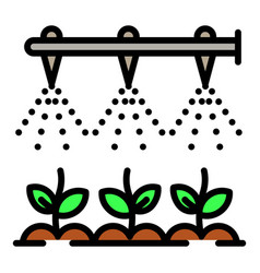 Modern irrigation technology icon outline style vector