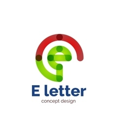 Modern minimalistic letter concept logo vector