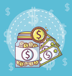 Money investment and savings vector