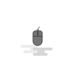 mouse web icon flat line filled gray icon vector image