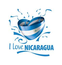 National flag nicaragua in shape vector