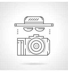 Paparazzi accessory flat line icon vector image