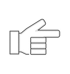 pointing hand icon hand jpeg vector image