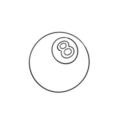 Pool eight ball hand drawn outline doodle icon vector