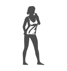 posing lady figure vector image