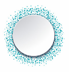 round background with blue dots vector image