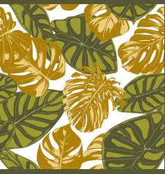 Seamless hand drawn botanical exotic pattern vector