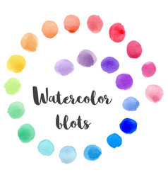 set of watercolor blots vector image