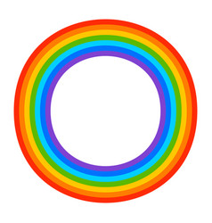 Simple 7-color rainbow element on white vector