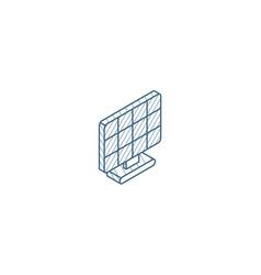 solar panel alternative sun energy isometric icon vector image