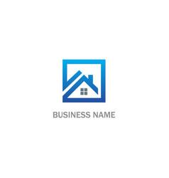 square home rorealty company logo vector image