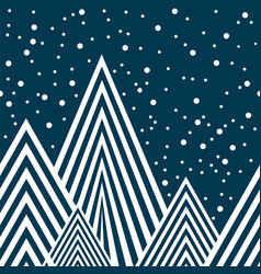 stars and mountains seamless pattern vector image