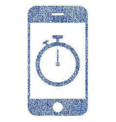 stopwatch gadget fabric textured icon vector image