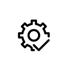system good icon with line style vector image